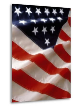 Close-up of Stars and Stripes on the American Flag