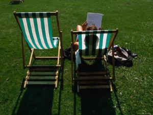 Deck Chairs in Hyde Park, London, Greater London, England by Doug McKinlay