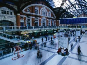 Inside the Bustling Liverpool Station - London, England by Doug McKinlay