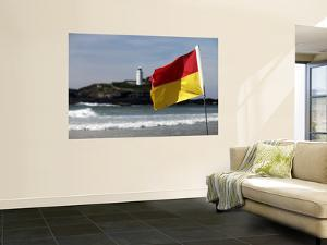 Lifeguards' Warning Flag and Godrevy Lighthouse by Doug McKinlay