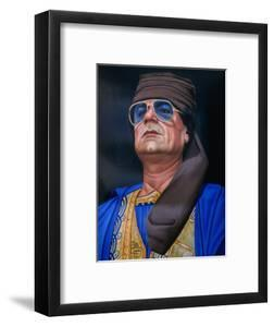 Painting of Libyan Leader Colonel Muammar Al-Gaddafi, Tripoli, Tarabulus, Libya by Doug McKinlay