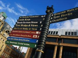 Quayside Sign, Newcastle-Upon-Tyne, Newcastle-Upon-Tyne, England by Doug McKinlay
