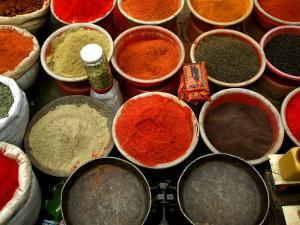 Spices for Sale at Illegal Market by Doug McKinlay