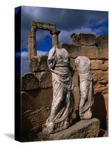 Statues of the Two Goddesses Demeter and Persephone, Cyrene, Darnah, Libya by Doug McKinlay