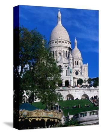 The Sacre Coeur Basilica is Located at the Top of Montmatre (Marty'R Hill) in Paris, France