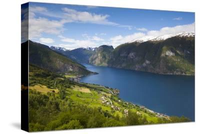 Aurlandsvangen Overview, Aurlands Fjord, Sogn Og Fjordane, Norway, Scandinavia, Europe