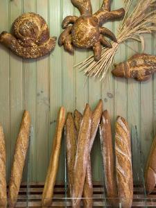Baguettes in a Boulangerie, Sarlat, Dordogne, France by Doug Pearson