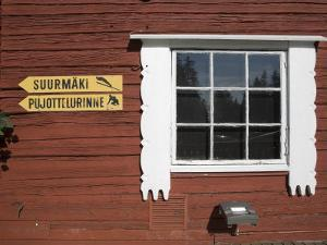 Building and Ski Jump Directions, Puijo Hill, Kaupio, Eastern Lakeland, Finland by Doug Pearson