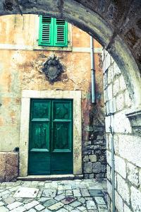 Building Detail, Stari Grad (Old Town), the Bay of Kotor, Kotor, Montenegro by Doug Pearson