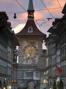 Clock Tower, Bern, Berner Oberland, Switzerland by Doug Pearson