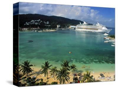 Cruise Ship and Turtle Beach, Ocho Rios, Jamaica