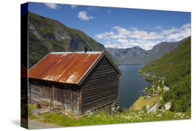 Elevated View over Aurlands Fjord, Sogn Og Fjordane, Norway, Scandinavia, Europe
