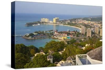 Elevated View over City and Coastline, Ocho Rios, Jamaica, West Indies, Caribbean, Central America
