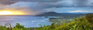 Elevated View over Dramatic Coastline from Noel Cowards 'Firefly', Roundhill, St. Mary Parish, Jama by Doug Pearson