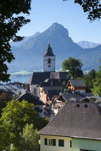 Elevated View over Parish Church and St. Wolfgang, Wolfgangsee Lake, Flachgau by Doug Pearson