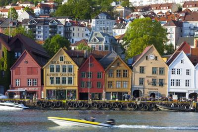 Fishing Warehouses in the Bryggen District by Doug Pearson