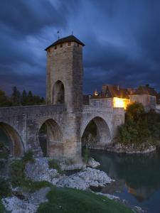 Fortified Bridge over the Gave De Pau, Orthez, Pyrenees-Atlantiques, Aquitaine, France by Doug Pearson