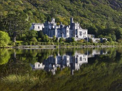 Kylemore Abbey reflected in lake by Doug Pearson
