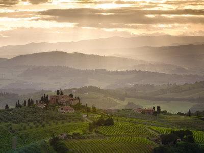 Landscape, San Gimignano, Tuscany, Italy