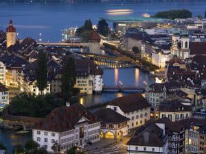 Luzern Skyline, Switzerland by Doug Pearson