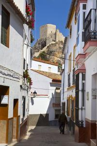 Moorish Tower in the Hilltop Village of Olvera, Olvera, Cadiz Province, Andalusia, Spain, Europe by Doug Pearson