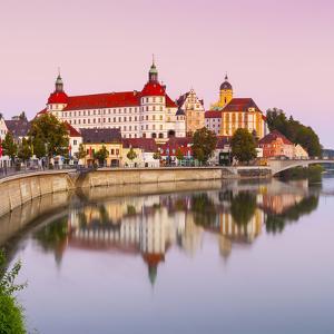 Neuburg Castle Reflected in the River Danube at Dawn, Neuburg, Neuburg-Schrobenhausen by Doug Pearson