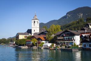 Parish Church, St. Wolfgang, Wolfgangsee Lake, Flachgau, Salzburg, Upper Austria, Austria, Europe by Doug Pearson