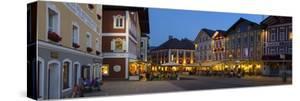 Restaurants in Market Square Illuminated at Dusk, Mondsee, Mondsee Lake by Doug Pearson