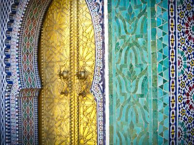Royal Palace Door, Fes, Morocco