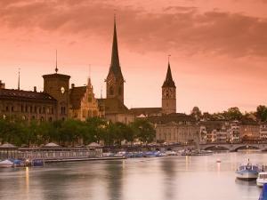 Skyline of Zurich, Switzerland by Doug Pearson