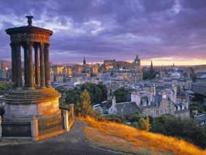 Stewart Monument, Calton Hill, Edinburgh, Scotland by Doug Pearson