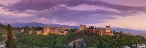 The Alhambra Palace Illuminated at Dusk, Granada, Granada Province, Andalucia, Spain by Doug Pearson