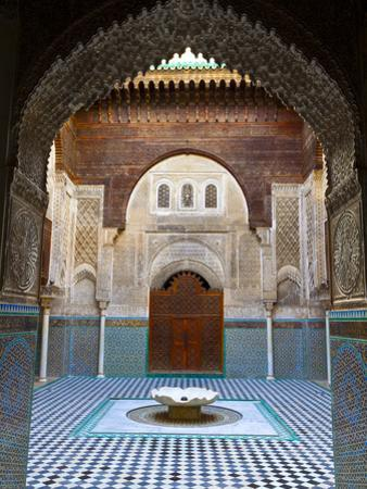 The Beautifully Ornate Interior of Madersa Bou Inania, Fes, Morocco by Doug Pearson