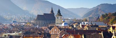 The Black Church and Clock Tower, Piata Sfatului, Brasov, Transylvania, Romania