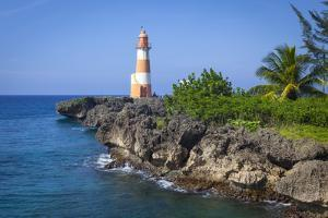The Picturesque Folly Point Lighthouse, Jamaica by Doug Pearson