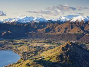 The Remarkables Ski Field Towards Arrowtown, Queenstown, Central Otago, South Island, New Zealand by Doug Pearson
