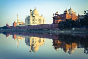 The Taj Mahal Reflected in the Yamuna River by Doug Pearson