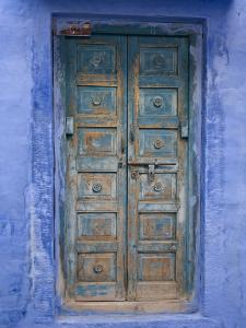 Traditional Blue Architecture, Jodhpur, Rajasthan, India by Doug Pearson