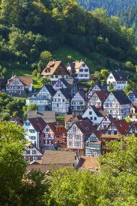Traditional Half Timbered Buildings in Schiltach's Picturesque Medieval Altstad, Baden-Wurttemberg by Doug Pearson