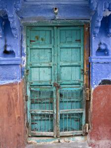 Typical Blue Architecture, Jodhpur, Rajasthan, India by Doug Pearson