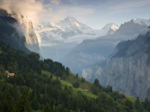 Wengen and Lauterbrunnen Valley, Berner Oberland, Switzerland by Doug Pearson