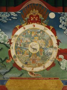Wheel of Life, Tibetan Art, China by Doug Traverso