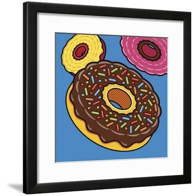 Doughnuts On Blue-Ron Magnes-Framed Giclee Print