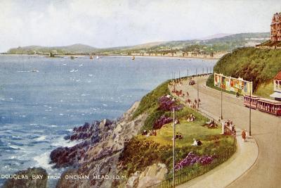Douglas Bay from Onchan Head, Isle of Man, C1930S-C1940S-Valentine & Sons-Giclee Print