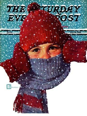 """""""Bundled Up,"""" Saturday Evening Post Cover, January 14, 1939"""