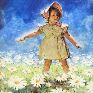 """""""Daisy Among Daisies,"""" August 21, 1943 by Douglas Crockwell"""