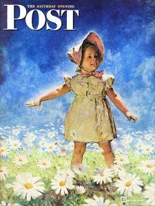 """""""Daisy Among Daisies,"""" Saturday Evening Post Cover, August 21, 1943 by Douglas Crockwell"""