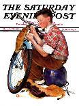 """""""Bicycle Ride,"""" Saturday Evening Post Cover, August 16, 1941-Douglas Crockwell-Giclee Print"""