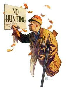 """""""'No Hunting',""""October 28, 1939 by Douglas Crockwell"""