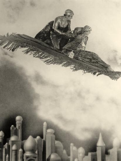 "Douglas Fairbanks Senior Filming ""The Thief of Bagdad"" 1924--Photographic Print"